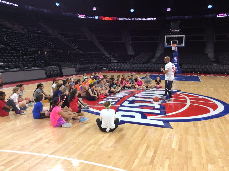 Coach Aaron welcomes the girls to the Queens of the Palace Clinic