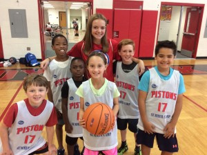 Coach Beth with Red Division players!