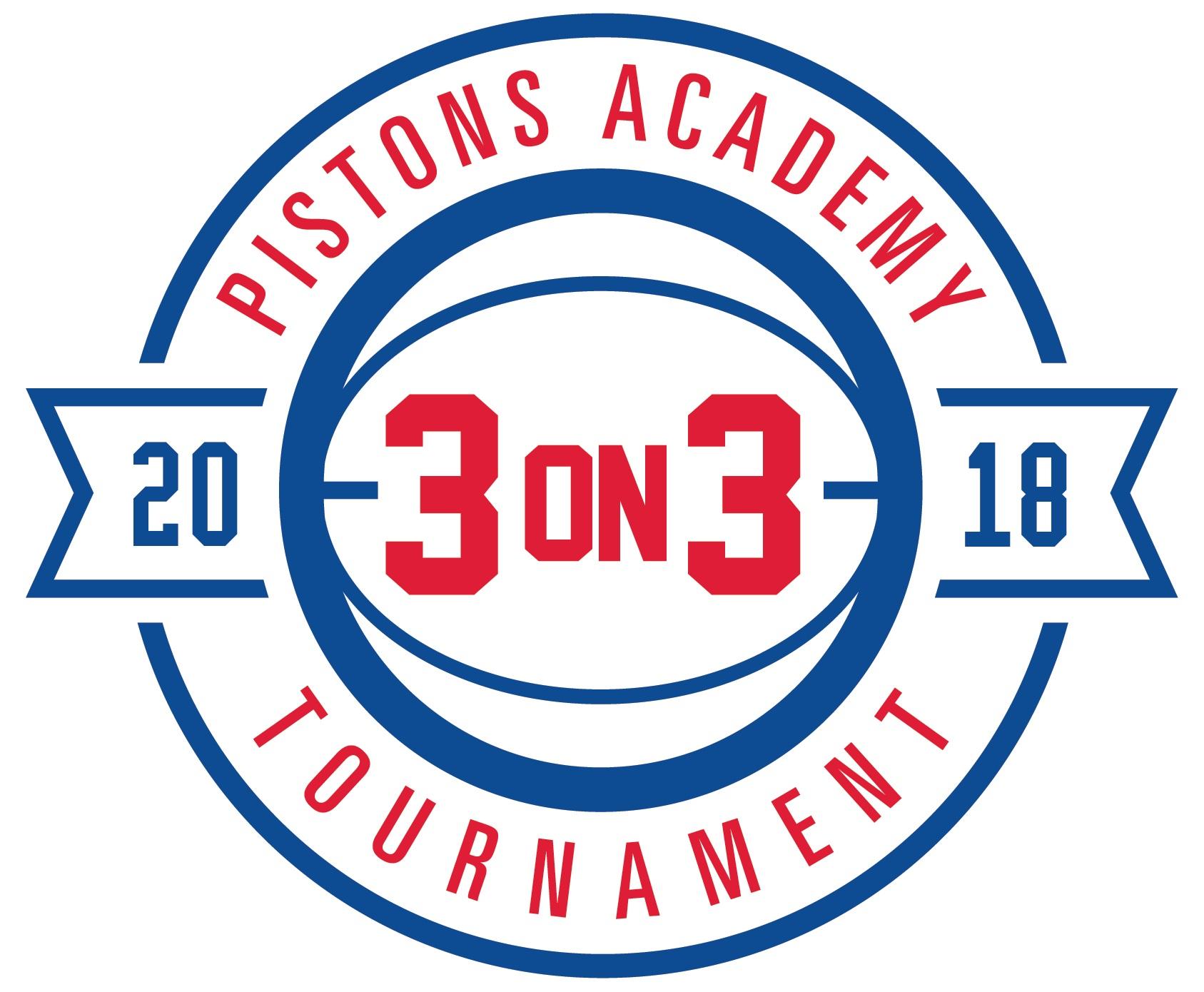Pistons Academy 3-on-3 Tournament 2018 Logo